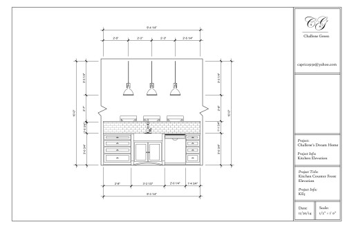 Front Elevation Kitchen : Fall autocad i